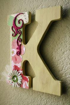Wooden letter - embellishment