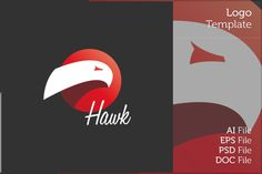 Hawk Logo Symbol by MAOV on Creative Market Hawk Logo, Hawkgirl, File Organization, Branding, Logo Design Template, Creative Sketches, Paint Markers, Pencil Illustration, Letter Logo