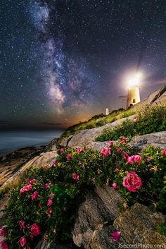 Rising Moon and Milky Way Glow Above Maine Lighthouse By Nina Sen, Space.com