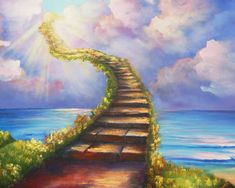 Led Zeppelin, Stairway To Heaven Lyrics, Heaven Painting, Groove Metal, Fear Of The Unknown, Christian Wallpaper, Spiritual Path, Spiritual Messages, Spiritual Growth
