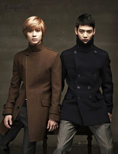 Can't help but love these two. Taemin and Minho. They totally need a cup of tea then they'd look British :D