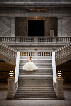 This Cinderella-inspired wedding photo is one of the most stunning bridal portraits we've ever seen!