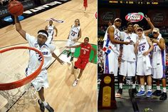 Florida Gators 2006-07 / The dominating starters of Florida's '06 championship team returned for more in '07 and wouldn't be denied. Corey Brewer, Taurean Green, Al Horford , Lee Humphrey and Joakim Noah became the first starting five to repeat as national champions and the first back-to-back champions in over 15 years.