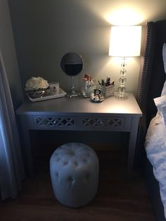 Glam table. All bought from Home Goods and TJ Maxx.