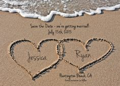 Beach Save the Date Destination Wedding Photo by WallflowerEvents