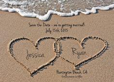 Beach Save the Date Destination Wedding Photo by WallflowerEvents