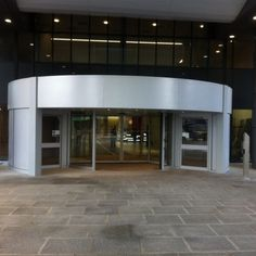 A recent installation of a bespoke Duotour revolving door at the Southern General Hospital in Glasgow. Construction News, Revolving Door, Security Door, General Hospital, Glasgow, Entrance, Bed Lifts, Southern, Mansions