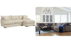 Rhyder 2-Pc. Sectional with Chaise - Sectional Sofas - Furniture - Macy's
