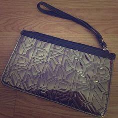 DKNY wristlet Cute, gunmetal color DKNY wristlet. DKNY Bags Clutches & Wristlets