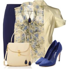 A fashion look from February 2014 featuring Oscar de la Renta blouses, Michael Kors blazers y Roland Mouret skirts. Browse and shop related looks.