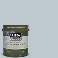 BEHR Premium Plus Ultra 1-gal. #N470-2 Oceanic Climate Semi-Gloss Enamel Interior Paint 375001 at The Home Depot - Mobile