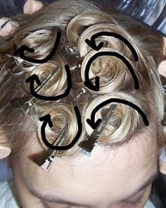 Image detail for -Pin Curls Hairstyle Ideas - Pin Curl Hairstyle Illustrations - Popular ...