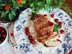 Grillowany kurczak z sosem winno – wiśniowym - Grillowany kurczak z sosem winno –wiśniowym