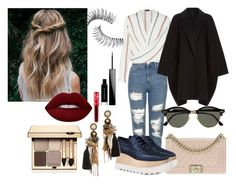 """""""Autumn season"""" by blonde-613 ❤ liked on Polyvore featuring Topshop, Chanel, Helmut Lang, STELLA McCARTNEY, Ray-Ban, Deepa Gurnani, Clarins, Givenchy, Trish McEvoy and Lime Crime"""