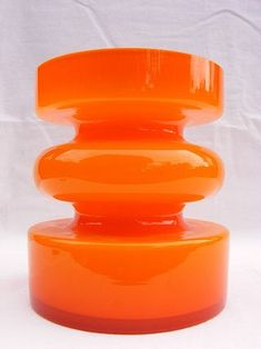 Modern orange glass vase - Vase World #orange #vase