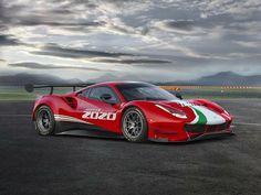2020 Ferrari 488 Evo ready to challenge the Corvette Ferrari 488 Gtb, New Ferrari, Ferrari Racing, F1 Racing, Poster Cars, Poster Retro, Ford Maverick, Cars Uk, Race Cars