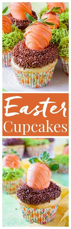 Take boxed cake mix to the next level with these Easy Easter Cupcakes that are so fun and simple to make! #ad