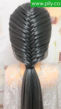 Braided Hairstyles Tutorials, Hair Tutorials, Trendy Hairstyles, Girl Hairstyles, Front Hair Styles, Curly Hair Styles, Edgy Hair, Different Hairstyles, Hair Videos