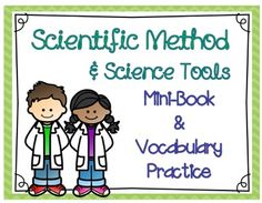 Scientific Method & Science Tools Mini-Book & Vocabulary Practice