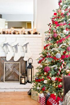 50 Cute Farmhouse Christmas Decorations Ideas