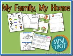 My Family My Home Unit - Family Spelling * Family Size Sort * Daily Home Routine * Letter Match Uppercase - Lowercase * How Many Windows? * Neighborhood Walk Bingo Game * Family Beginning Writing * My Neighborhood Coloring Book * Preschool Family Theme, Preschool At Home, Preschool Themes, Preschool Lessons, Preschool Activities, Kindergarten Family Unit, Children Activities, Preschool Printables, Preschool Classroom