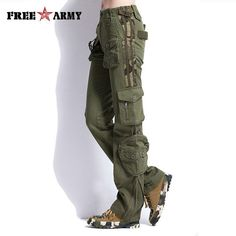 af4b7268501 Brand Plus Size Women Pants Camouflage Cargo Pants Unisex Pants  amp  Capris  Army Military Pants