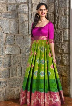 101 best lehenga saree photos by Saree Gown, Sari Dress, Anarkali Dress, Lehenga, Frock Models, Frocks And Gowns, Frock Patterns, Ikkat Dresses, Frock For Women