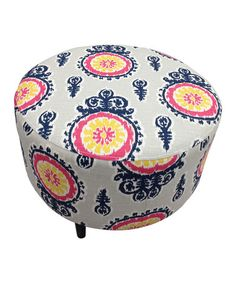 Take a look at this Calandra Crown Round Ottoman by S.O.L.E. on #zulily today!
