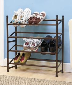 Expandable Stackable Shoe Rack is a neat way to organize your footwear…
