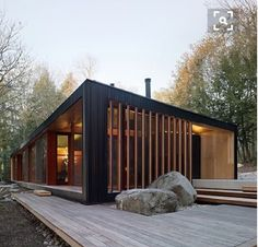 Container House - @curiousarchitect Clear Lake Cottage by MJMA. Parry Sound, Canada. http://build-acontainerhome.blogspot.com