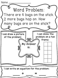 Addition to 10 Word Problems Pack