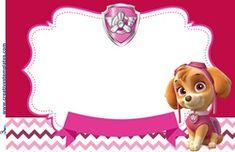 Convite patrulha canina para meninas