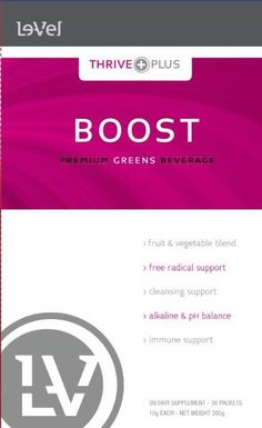 "Boost is Le-Vel's delicious new berry flavored ""greens"" drink.  You ready to boost your thrive?  www.tuscaloosacindy.le-vel.com"