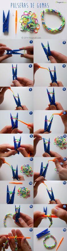 Bracelet élastique Rainbow loom comment les faire ?