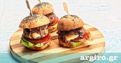 Mini γεμιστά burger με ψωμί μπριός | Συνταγή | Argiro.gr