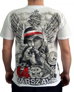 T-shirt patriotyczny 'Warszawa 44' HD - tył ---> Streetwear shop: odzież uliczna, kibicowska i patriotyczna / Przepnij Pina!
