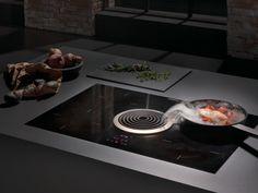 Surface induction glass ceramiccooktop BFIA BORA Basic Line By Bora Glass Ceramic, Kitchen Hoods, Kitchen Appliances, Plaque Induction, Extractor Hood, Kitchen Collection, Kitchen Furniture, Kitchen Gadgets, Tech Gadgets