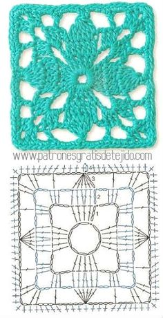 Transcendent Crochet a Solid Granny Square Ideas. Inconceivable Crochet a Solid Granny Square Ideas. Motifs Granny Square, Crochet Motifs, Granny Square Crochet Pattern, Crochet Blocks, Crochet Diagram, Crochet Stitches Patterns, Crochet Chart, Crochet Squares, Knitting Patterns