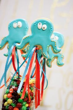 Octopus on a Stick   Cookies In Color   Shannon Tidwell