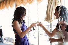 Reception: Toasting with champagne (or drink of your choice) (by Jennifer Sosa)