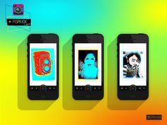 popart photo camera app ios iphone popkick popkickapp neon filter photofilter