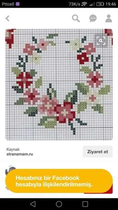 Mini Cross Stitch, Cross Stitch Rose, Cross Stitch Flowers, Cross Stitch Embroidery, Hand Embroidery, Cross Stitch Patterns, Hobbies And Crafts, Diy And Crafts, Bordados E Cia