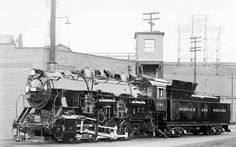 """Classics Trains magazine photo of the day: """"Norfolk & Western 0-8-0 No. 244, pictured brand-new at Roanoke Shops in December 1953, was the last reciprocating steam locomotive built for service in the U.S."""" (N photo)"""