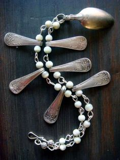 Reuse old spoons for jewelry