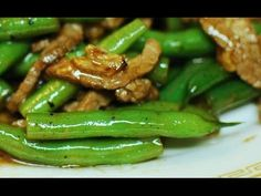 STIR FRY : BEEF WITH GREEN BEANS ( authentic chinese cooking )