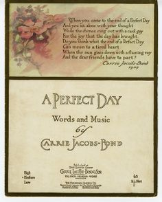 """A Perfect Day,"" published in 1910"