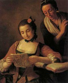 The Readers. Pietro dei Rotari (Italian, 1707-1762). Oil on canvas.The State Tretyakov Gallery.