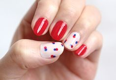 DIY essie Red Label Retro Nail Art Tutorial from Small Good Things here.*For more nail art tutorials go here:truebluemeandyou.tumblr.com/t...
