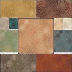 Patricia Bravo - Floral Elements Fat Quarter Bundle in Earth Tones