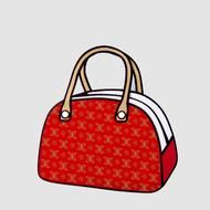 It's a real bag that looks like a cartoon!!! You need to see the whole collection. It's great.